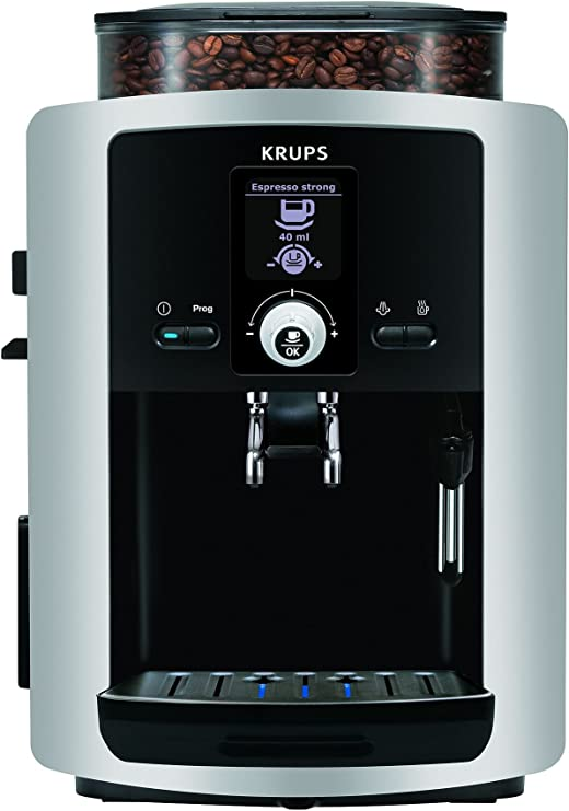 Krups Espresseria Automatic - Cafetera automática, capacidad de 1.8 litros, 15 bares, pantalla LCD: Amazon.es: Hogar