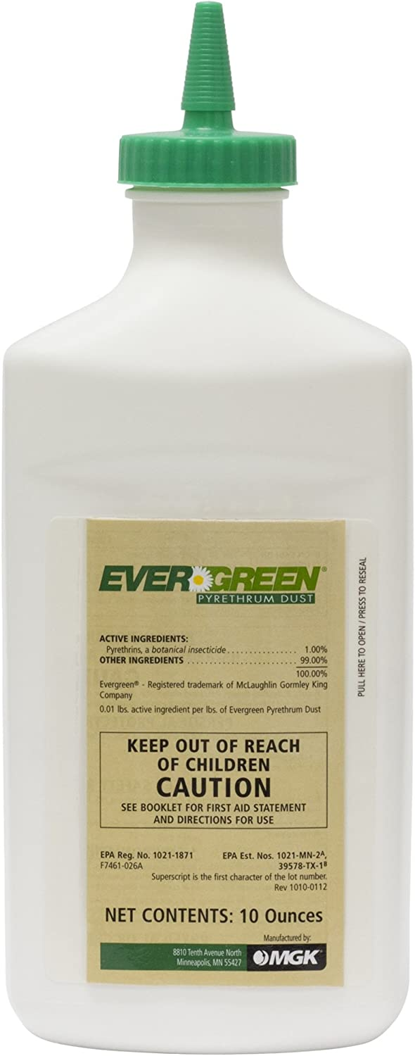 MGK 7461-D26A Evergreen Pyrethrum Insecticide Dust, 10_Ounce, White