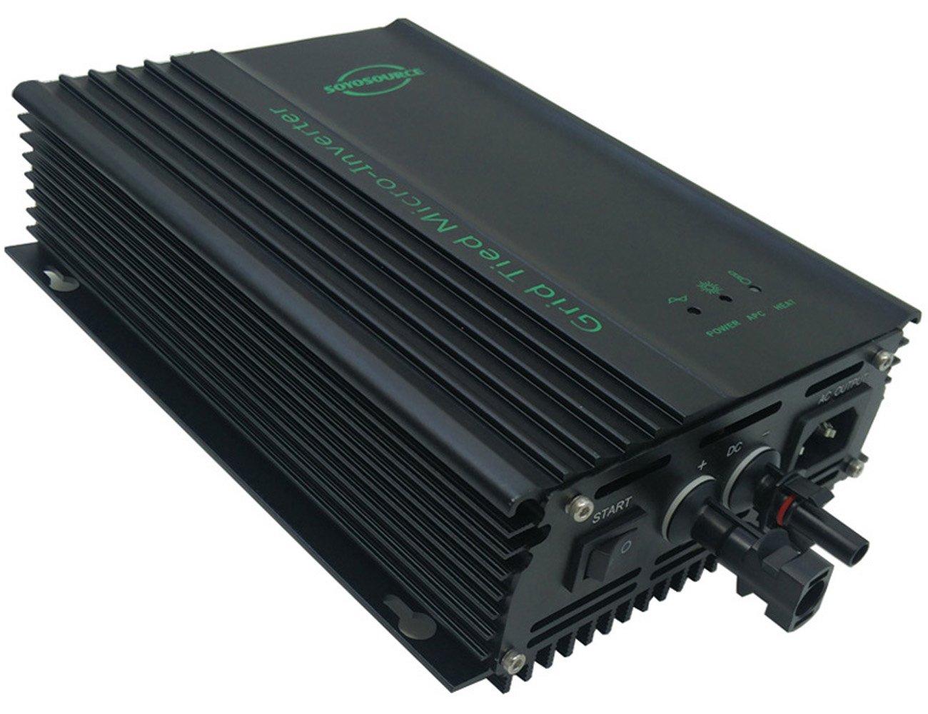 SOYOSOURCE 600w Grid Tie Solar Inverter Generator for PV-Input:40v-60V or 36v Battery Power Inverter for Home System