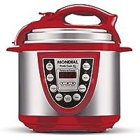 Panela de Pressão Elétrica Mondial, Pratic Cook 5L Premium, 127V, Vermelho, 900W - PE-12