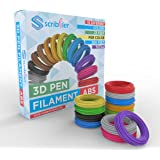 Scribbler 3D Pen ABS Filament Refills for 3D Drawing Pen | Premium Quality, Durable ABS Glowing Material| 500 Linear Feet For Endless Doodles| 15 Different Colors
