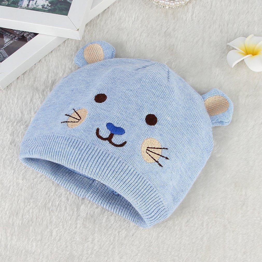 La Vogue Bonnet Beanie Enfant Bébé Tour De Tête 36-46cm Automne Hiver  Tricote Bleu  Amazon.fr  Vêtements et accessoires b72bf73921c