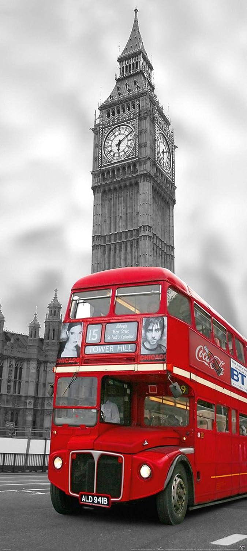 Colle sp/éciale pour INTISS/É- Non Woven 517V LONDRES- 90x200 cm -2 l/és 45x200 cm- de haute qualit/é impression NUM/ÉRIQUE photo r/éaliste Papier Peint Photo Mural Porte INTISS/É- Poster G/éant XXL-Angle