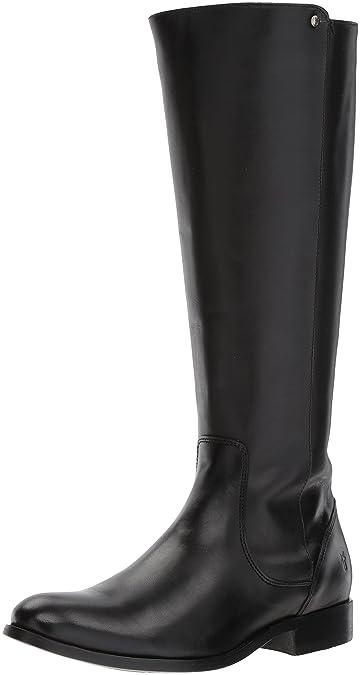 FRYE Women's Melissa Stud Back Zip Riding Boot, Black, ...
