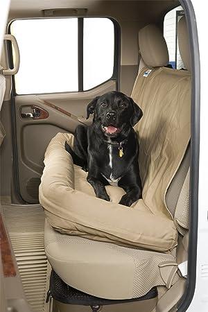 Cubre dbs4619gy asiento trasero canina perro cama gris medio 46 en. Ancho x 19 en. Profundo polialgodón asiento trasero perro cama: Amazon.es: Coche y moto