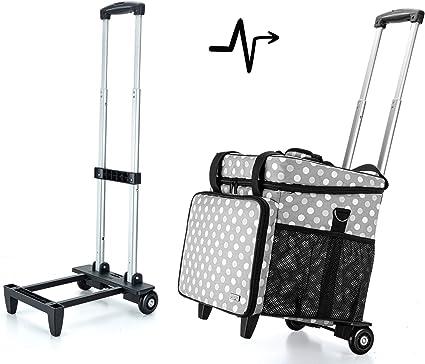 Luxja Bolsa para Remalladora con Trolley desmontable, Maleta para ...