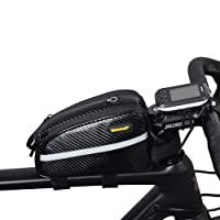 Sodee Water Resistence Bike Front Top Tube Bag Frame Bag Pack double zipper design for bicycle mountain bike cycling accessories