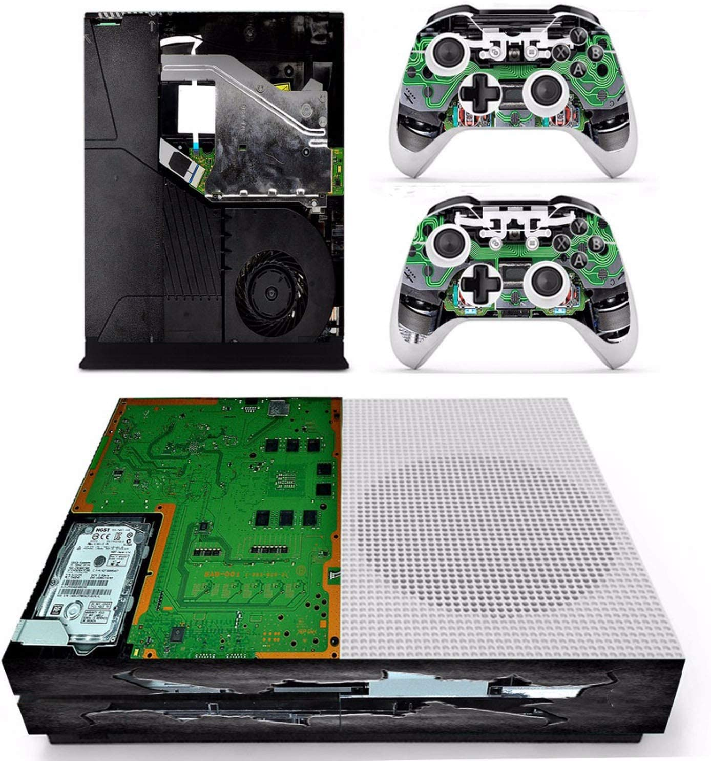 Amazon.com: Circuit diagram Vinly Skin Sticker Decals For XBOX One on