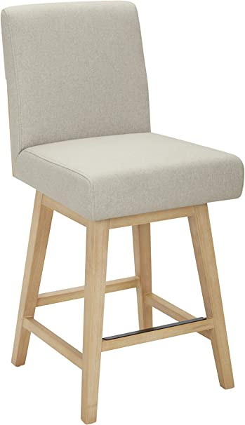 Stone /& Beam Sophia Modern Swivel Kitchen Counter Height Stool 39.4 H Chalk