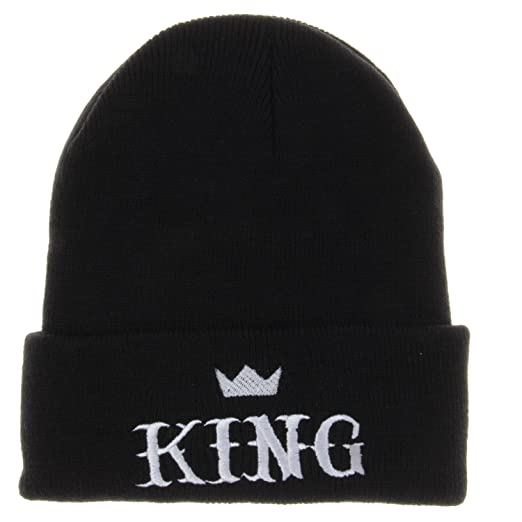d59041f6563b Image Unavailable. Image not available for. Color: King Winter Knit Beanie  Hat Men Women Winter Cap ...