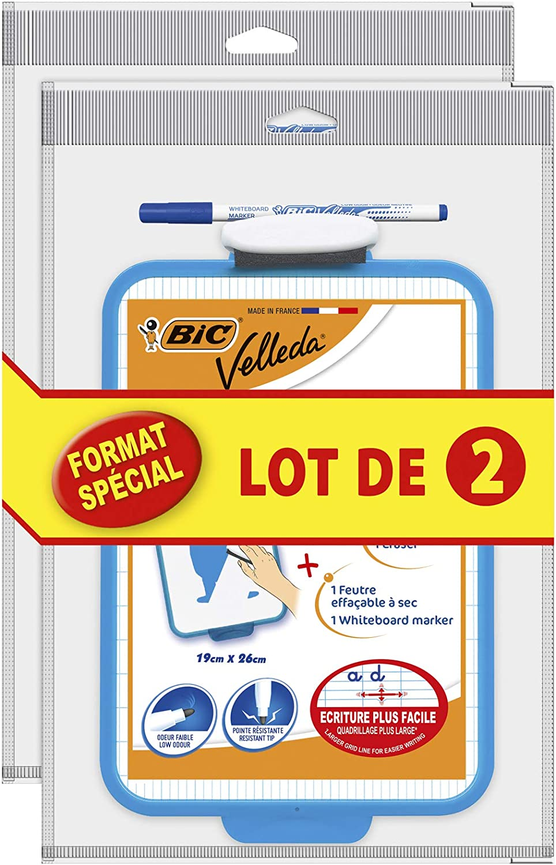 Bic Velleda 950615/19/x 26/cm Set of 2/Dry Wipe Surface Blue