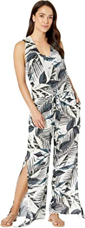 be57f25af279f La Blanca Women's Moment of Zen Wrap Jumpsuit Cover-Up Blue X-Small ...