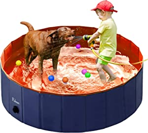 Fuloon PVC Pet Swimming Pool Portable Foldable Pool Dogs Cats Bathing Tub Bathtub Wash Tub Water Pond Pool Pet Pool & Kiddie Pools for Kids in The Garden,