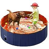 Fuloon PVC Pet Swimming Pool Portable Foldable Pool Dogs Cats Bathing Tub Bathtub Wash Tub Water Pond Pool Pet Pool…
