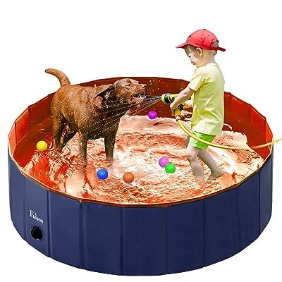 Fuloon PVC Pet Swimming Pool Portable Foldable Pool Dogs Cats Bathing Tub Bathtub Wash Tub Water Pond Pool Pet Pool & Kiddie Pools