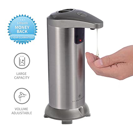GLAMFIELDS Soap Dispenser, Touchless Stainless Steel Automatic Soap  Dispenser, IR Infrared Motion Sensor Hand