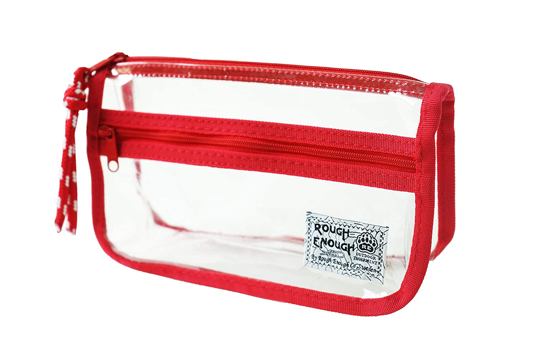 Rough Enough transparente Vintage – Funda transparente Enough (comestic Bolsa de soporte 101985