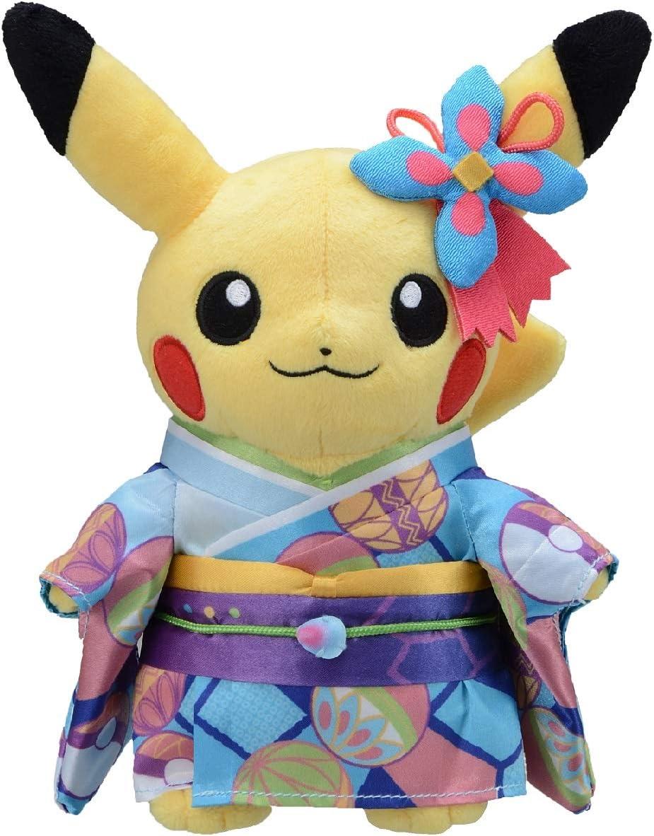 Pokemon Center KYOTO Limited Item Pokemon Pikachu Plush Doll Set of 2 Kimono