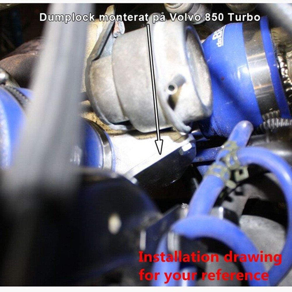 Turbo Bypass Valve Block Plate Blow Off Valve CBV Blocking Plate for Mitsubishi TD04HL Turbos