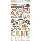 Hello Fall Chipboard Stickers - Simple Stories