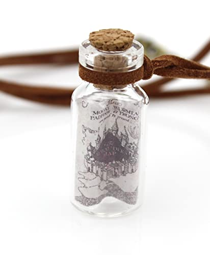 pendant necklace original vial halloween products bottle slices polym glass clay