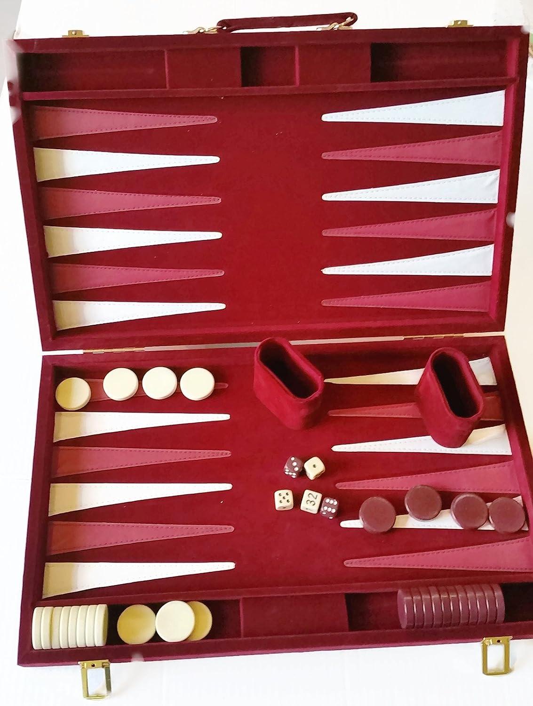 格安販売の Burgundy Backgammon Backgammon Game Set 22