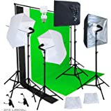 Linco Studio Lighting Light Video Photo Softbox Photography Kit Backdrop Muslin