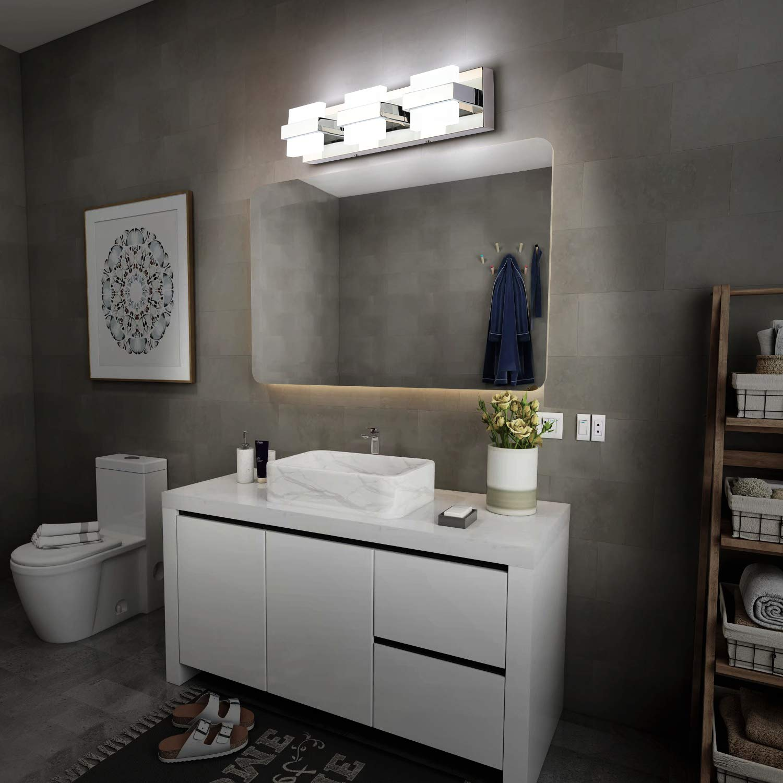 Vanity Lights Solfart Led Modern Bathroom Vanity Lights Over Mirror 3 Lights Acrylic Stainless Steel Bath Wall Lighting Tools Home Improvement Smkbinaputracihampelas Sch Id