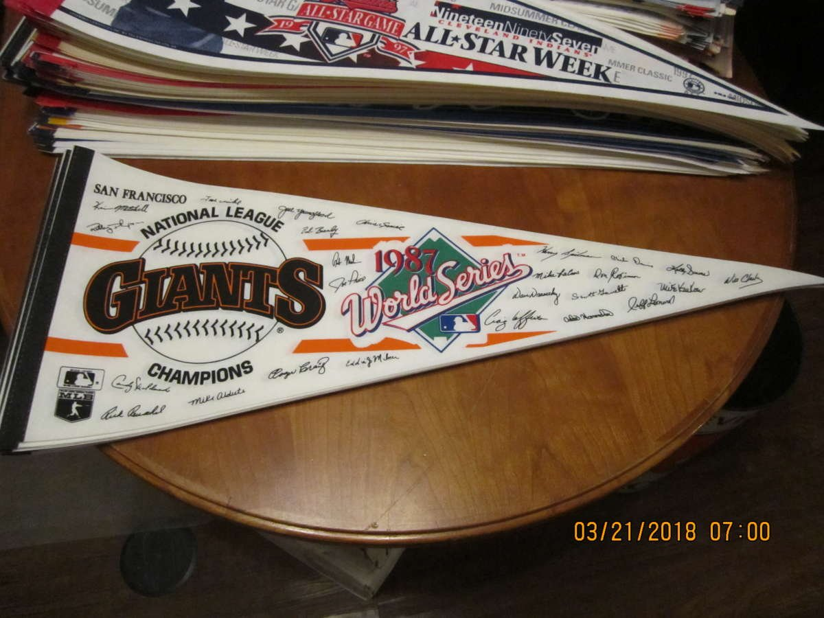 1987 San Francisco Giants NL Western Division Champions  FULL-SIZE TEAM PENNANT