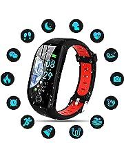 Tipmant Montre Connectée Femmes Homme Enfant IP68 Etanche Bracelet Connecté Écran Coloré Smartwatch avec Cardio Podometre Sommeil Réveil Notifications pour iPhone Huawei Samsung Xiaomi Sony