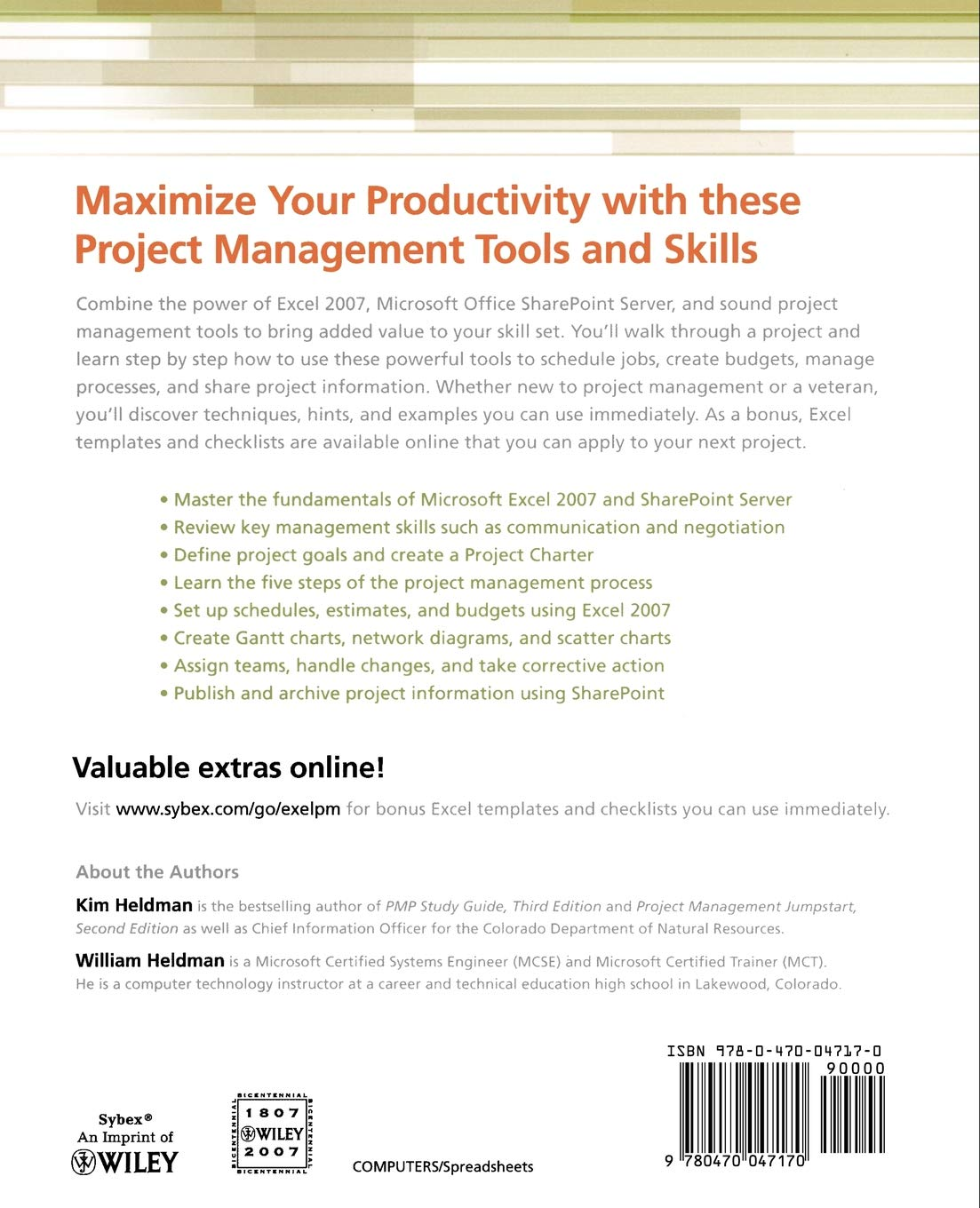 Buy Microsoft Office Excel 2007 for Project Managers Book