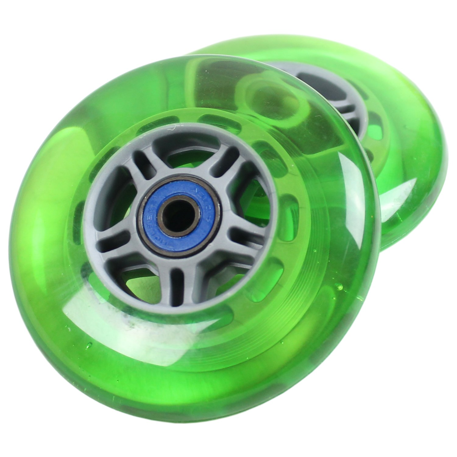 UPGRADE WHEELS for RAZOR SCOOTER Green ABEC 7 BEARINGS