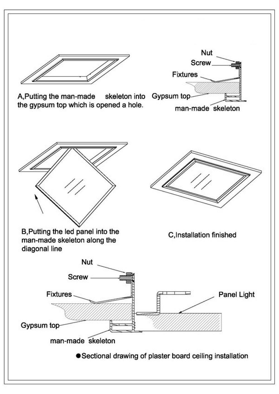 Montageset Einbaurahmen - weiß - 60x60: Amazon.de: Beleuchtung