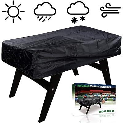 NEVERLAND Foosball Table Cover, Outdoor Waterproof Dust Rectangular Patio Coffee Chair Billiard Soccer Cover Black 63 x 45 x 19.7inch : Garden & Outdoor