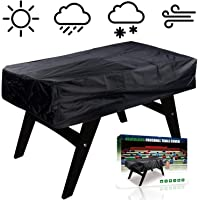 NEVERLAND Foosball Table Cover, Outdoor Waterproof Dust Rectangular Patio Coffee Chair Billiard Soccer Cover Black 63 x 45 x 19 inch