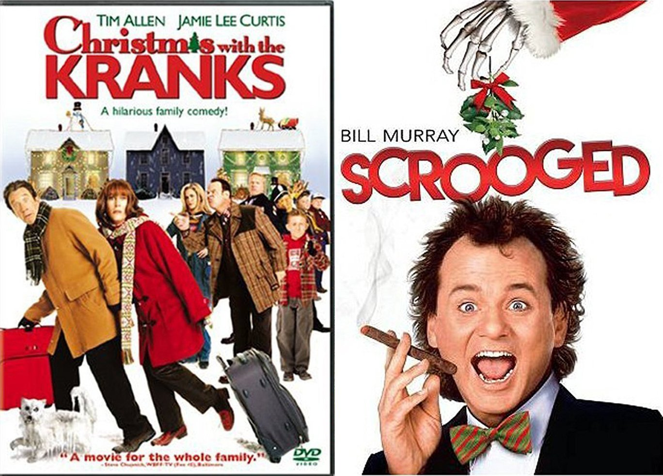 Amazon.com: Bill Murray Scrooged & Tim Allen Christmas with the ...