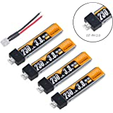 Crazepony 4pcs 230mAh HV 1S Lipo Battery 30C 3.8V for Tiny Whoop Blade Inductrix JST-PH 2.0 Connector