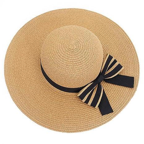 dc92836bd475b YXINY Viseras Sombrero del Sol De Las Mujeres Sombrero Plegable De La Playa  Sombrero De Paja