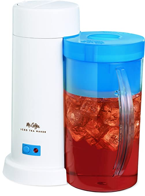 Mr. Coffee 2-Quart Iced Tea Maker for Loose or Bagged Tea, Blue