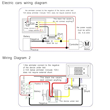 71YB11ibfvL._SX425_ amazon com drok digital voltage current tester voltmeter ammeter Basic Electrical Wiring Diagrams at bakdesigns.co