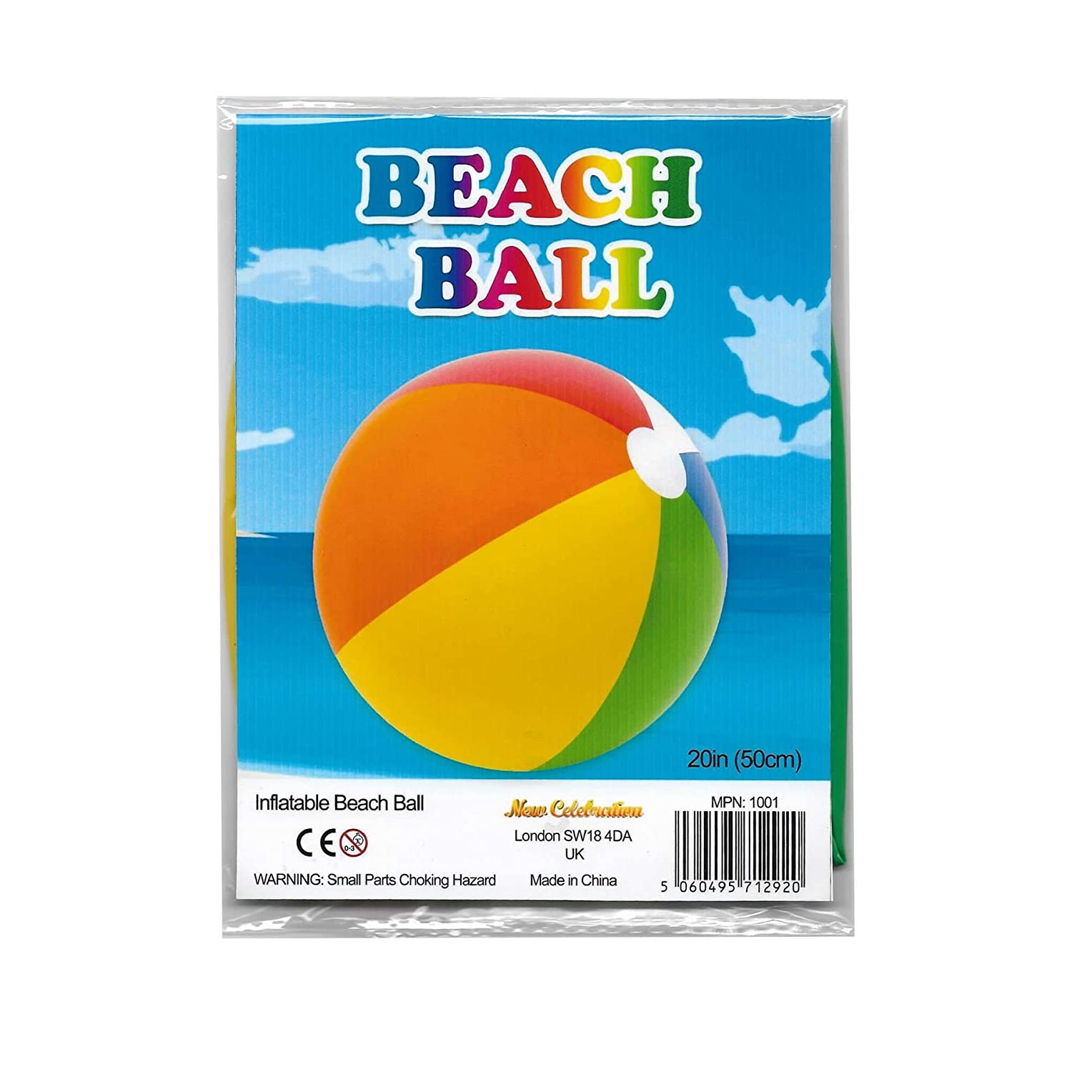 New Celebration 20 Inflatable Beach Ball Pool Party Multi Colour ...