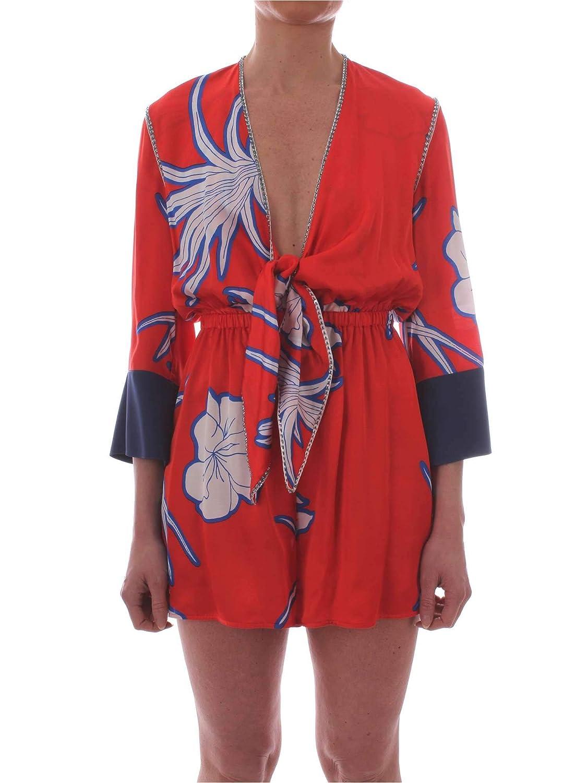 Brand Size 44 IT PINKO Women's 1G13V47329RE3 Red Viscose Jumpsuit