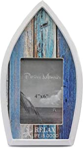 Wooden Nautical Themed Home Decor Picture Frames, Boat Shaped