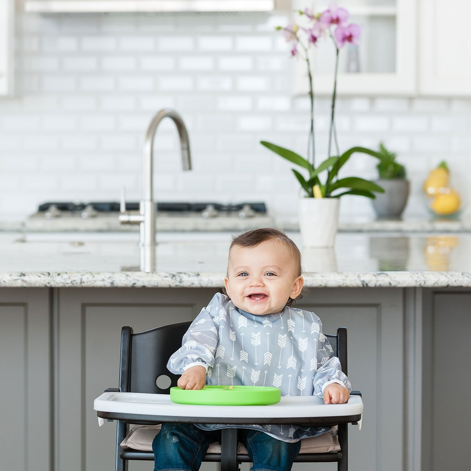 Suction Plate Bumkins Silicone Grip Dish Microwave Dishwasher Safe Marbled Baby Toddler Plate Divided Plate BPA Free