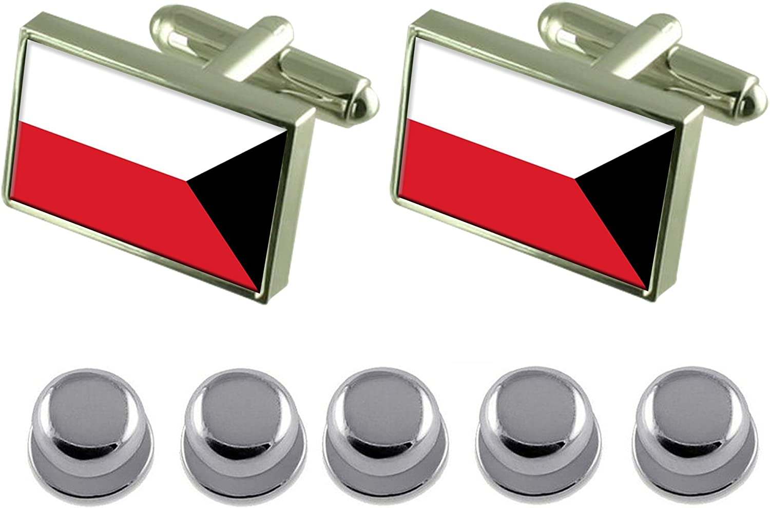 Select Gifts Heart Playing Card Number 6 Sterling Silver Plated Cufflinks Boxed