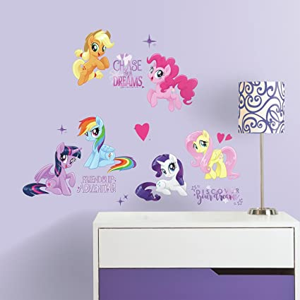Roommates rmk3664scs my little pony the movie peel and stick wall decals 8 38 inch x