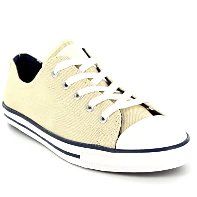 9c7b50935440 Womens Converse Dainty Denim Ox All Star Chuck Taylor Lace Up Sneakers -  Off White -