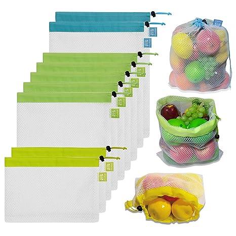 Amazon.com: Bolsas de malla reutilizables Brotrade, bolsas ...