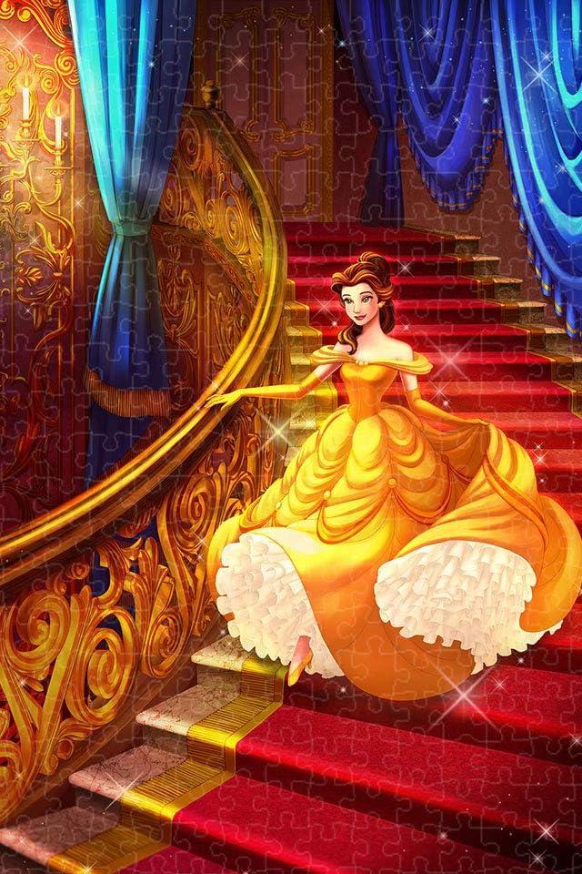 ディズニー ベル iPhone(640×960)壁紙画像