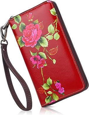 Women Wallet Purse Owl Background Pattern Clutch Bag Leather